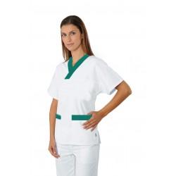 CASACCA UNISEX Bianco  e profilo verde